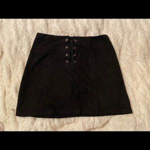 Forever 21 lace up mini skirt